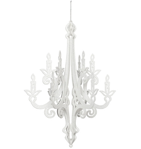 GLITTERED CHANDELIER - WHITE White
