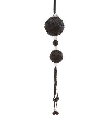 BEADED BALL DROP - BLACK Black