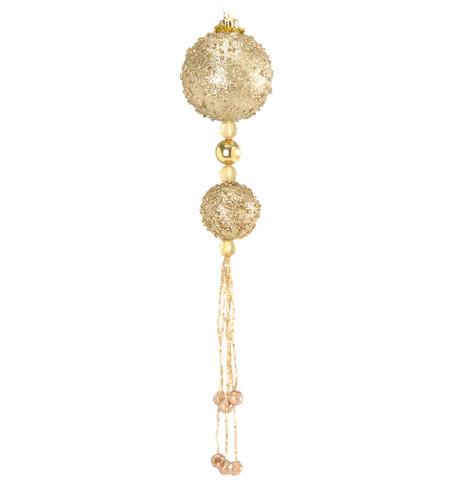 BEADED BALL DROP - GOLD Gold