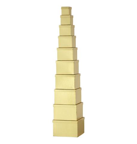 BOX SET SQUARE - GOLD Gold