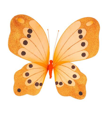 BUTTERFLY GLITTERED - ORANGE Orange