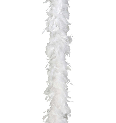 FEATHER BOA - WHITE White