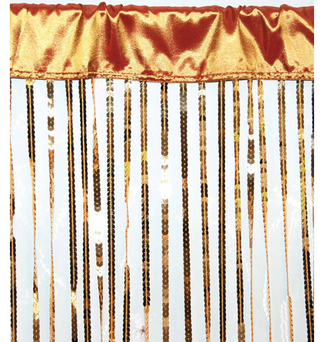 HOLLYWOOD CURTAIN LARGE - GOLD Gold