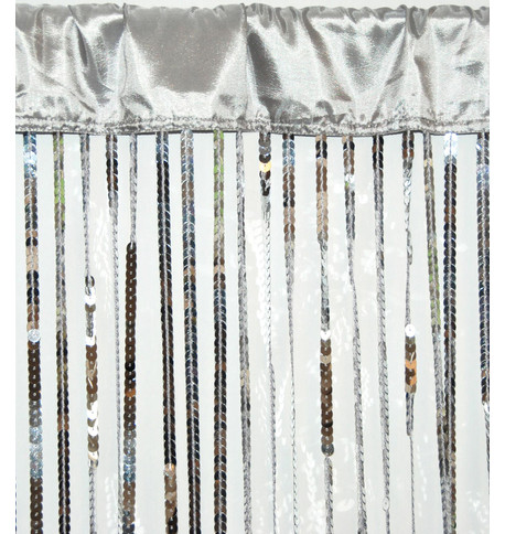 HOLLYWOOD CURTAIN LARGE - SILVER Silver