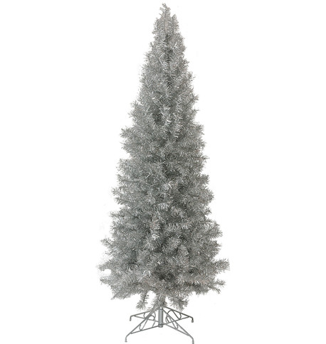 SLIMLINE PINE CHRISTMAS TREE - SILVER Silver