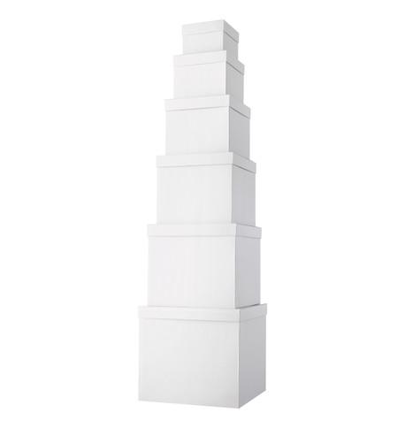 GIANT BOX SET SQUARE - WHITE White