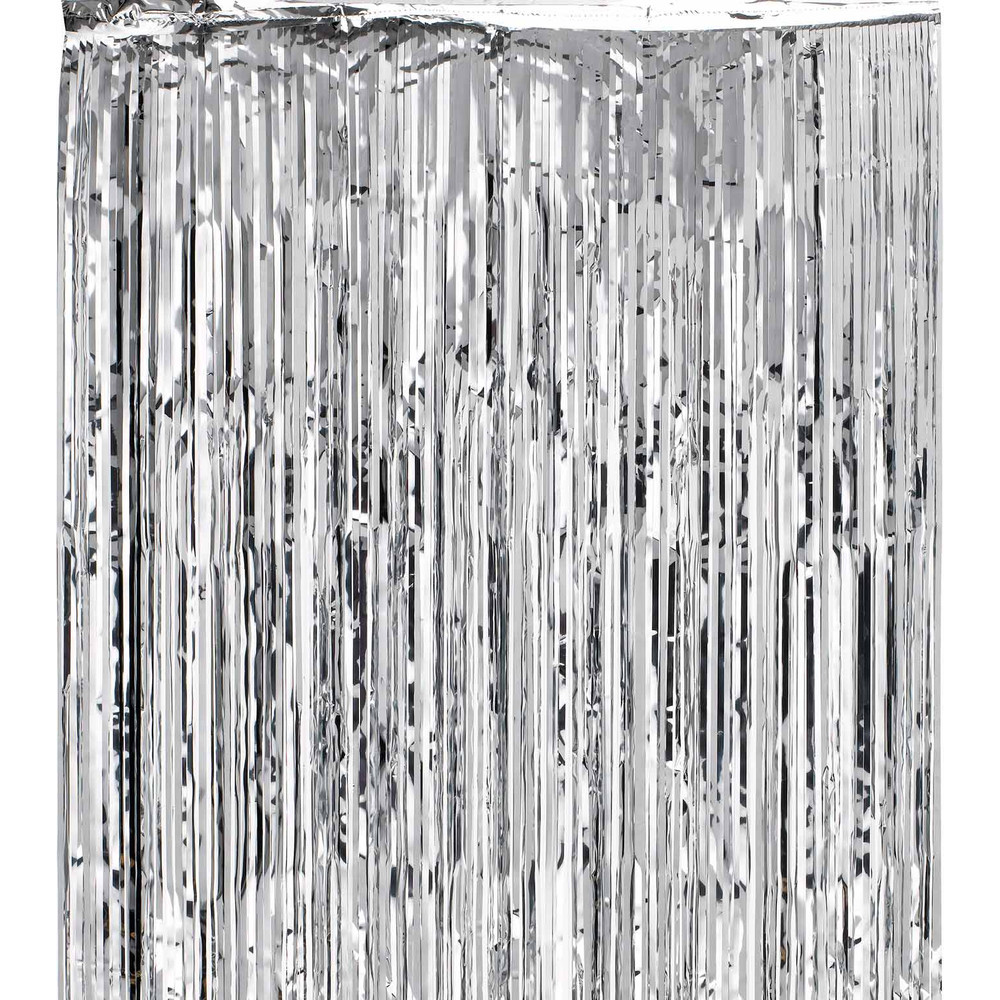 Shimmer Curtains Silver Dzd