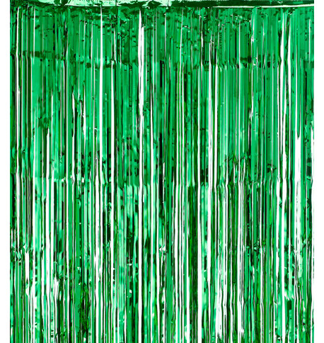SHIMMER CURTAINS - GREEN Green