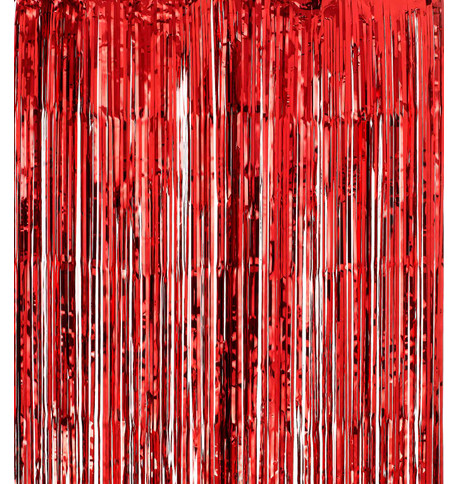SHIMMER CURTAINS - RED Red