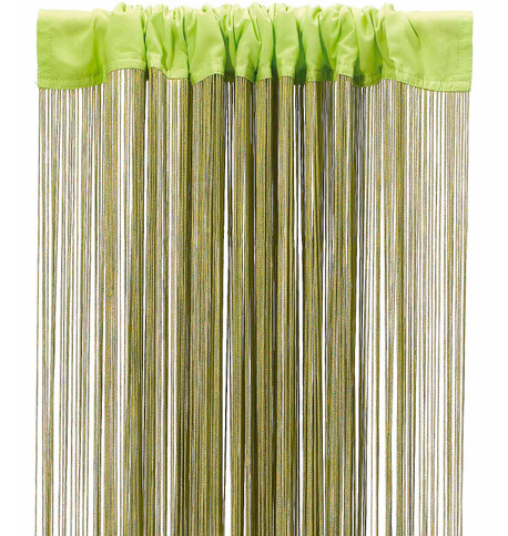 FRINGE CURTAIN - CHARTREUSE Chartreuse