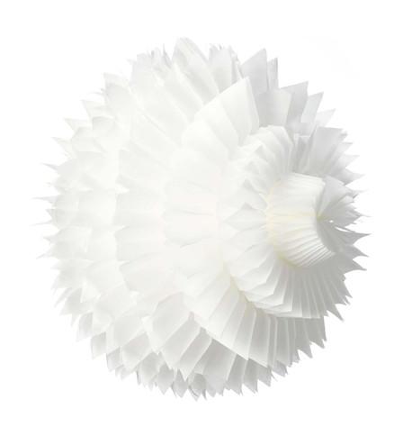 PAPER PETAL BALL - WHITE White