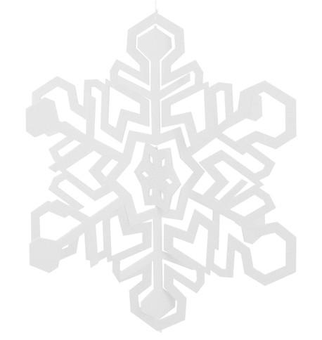 GIANT CUT OUT SNOWFLAKE White