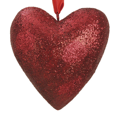 GLITTERED HEART  Red