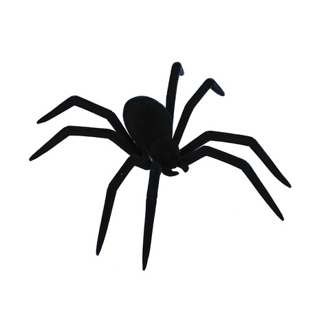 FLOCKED SPIDER  Black