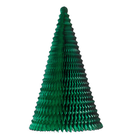 FOLD OUT PAPER CHRISTMAS TREE - GREEN Dark Green