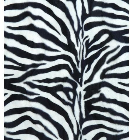 ZEBRA TEXTURED VELVET Black and White