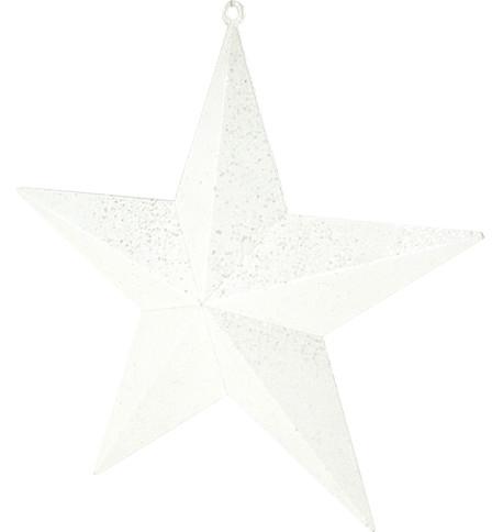 LARGE GLITTER STARS - WHITE White