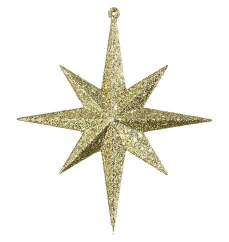 GLITTER STAR 8 POINT - GOLD Gold