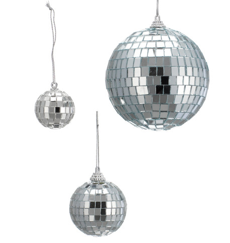 MIRROR BAUBLES Silver