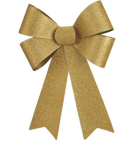 GLITTER BOWS - GOLD Gold