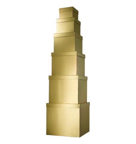 GIANT BOX SET SQUARE - GOLD Gold