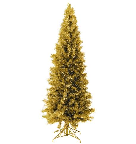 SLIMLINE PINE CHRISTMAS TREE - GOLD Gold