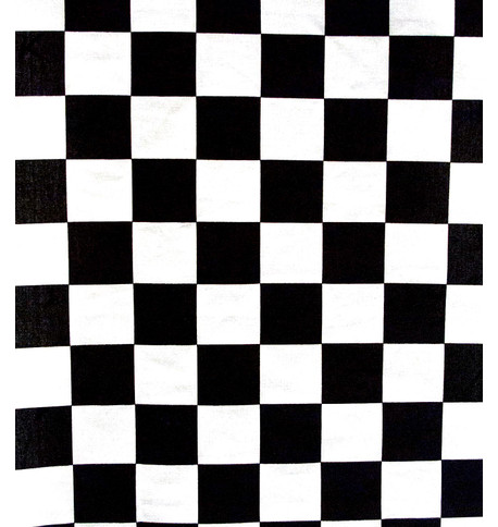 CHESS COTTON Black and White