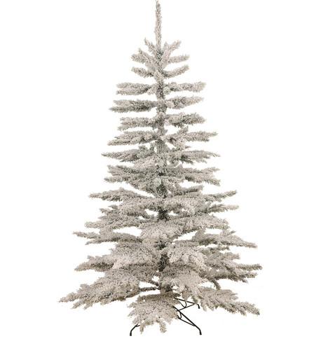 FLOCKED NORWAY SPRUCE CHRISTMAS TREE White