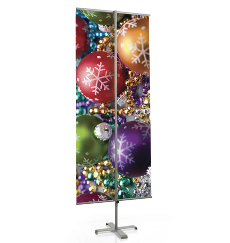 BANNER STAND Silver