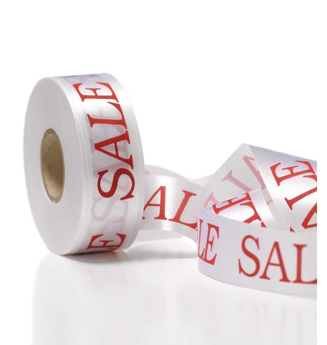 SALE RIBBON - WHITE White
