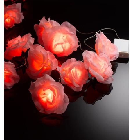 LED ROSE GARLAND  Pink