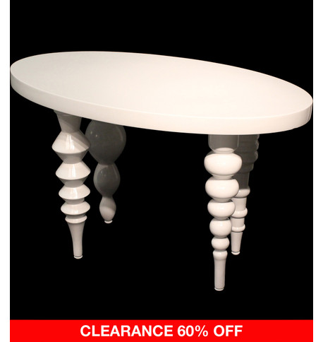 OVAL DISPLAY TABLE - WHITE White