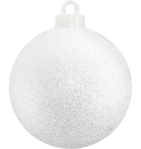 GLITTER BAUBLE - SPARKLING WHITE Sparkling White