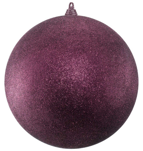 300mm GLITTER BAUBLES - MULBERRY Mulberry