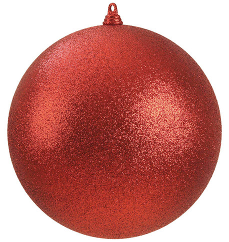 400mm GLITTER BAUBLES - RED Red