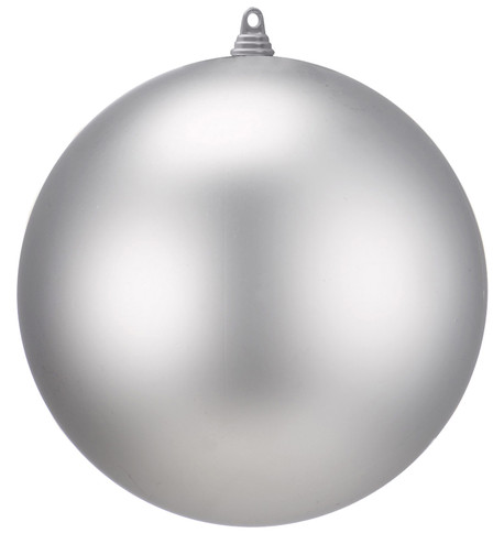 400mm MATT BAUBLES - SILVER Silver