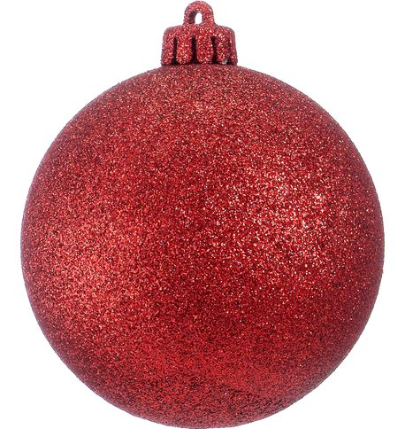 GLITTER BAUBLES - RED Red