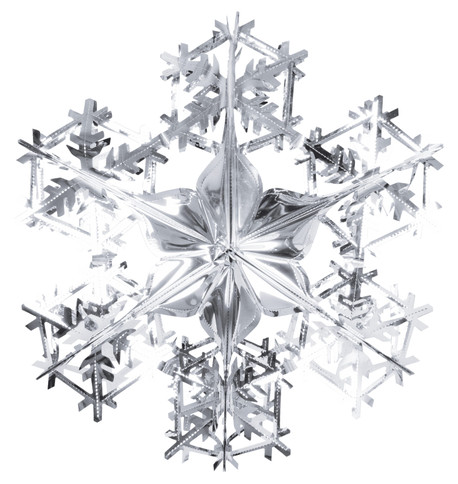 FOIL SNOWFLAKES - SILVER Silver