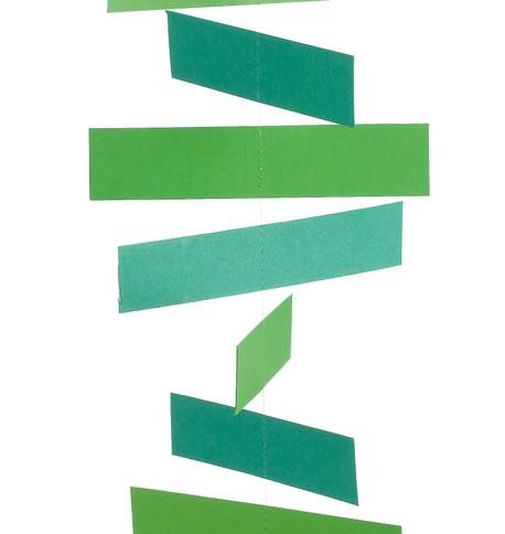TICKER TAPE GARLANDS - GREEN Green