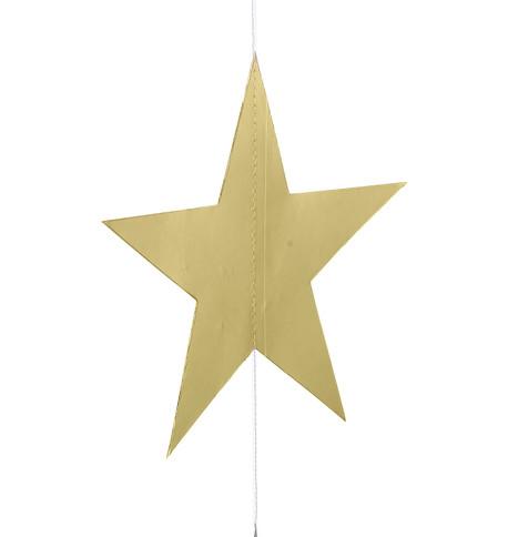 METALLIC CARD STAR GARLANDS - GOLD & SILVER Gold & Silver