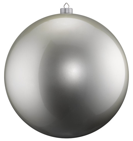 500mm HIGH GLOSS BAUBLES - SILVER Silver