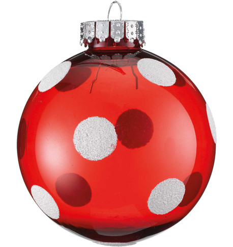 POLKA DOT BAUBLE Red