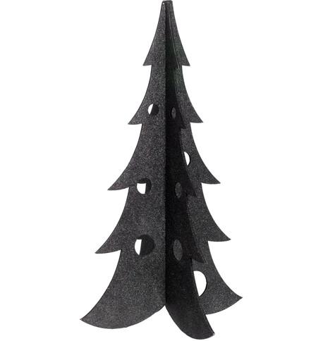 SPARKLE CHRISTMAS TREES - BLACK Black