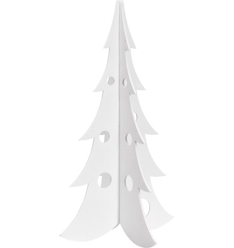 SPARKLE CHRISTMAS TREES - WHITE White