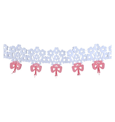 PAPER BOUQUET GARLAND White