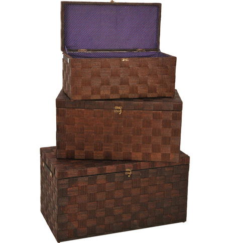 FLAT TOP CHEST SET Brown