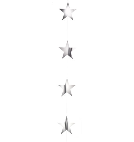 MIRROR STAR GARLANDS Silver