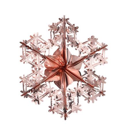 FOIL SNOWFLAKES Blush Pink