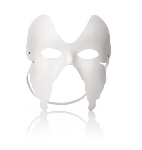 BUTTERFLY BLANK MASK White