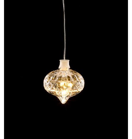 LED CRYSTAL LIGHT - ONION SHAPE Warm White